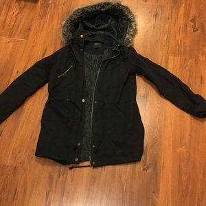 Black parka/utility jacket